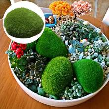 Aquarium Grass Simulation Moss Stone Easy To Micro Landscape Decoration Planting Fluff Stone Ornaments(China)
