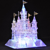 3D Three Dimensional Crystal Puzzle Flash Music Castle 105 Assembled Model