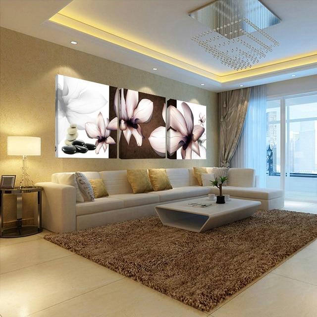 Camera da letto fiore stampa su tela arte della parete bellissimi ...