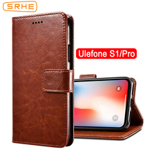 цена на SRHE For Ulefone S1 Case Cover Flip Leather Wallet Silicone Cover For Ulefone S1 Pro S1Pro Case With Magnet Holder
