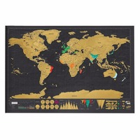 2017 Hot 1pcs Travel Scratch Off Map Personalized Deluxe World Map Scratch Off Foil Layer Coating