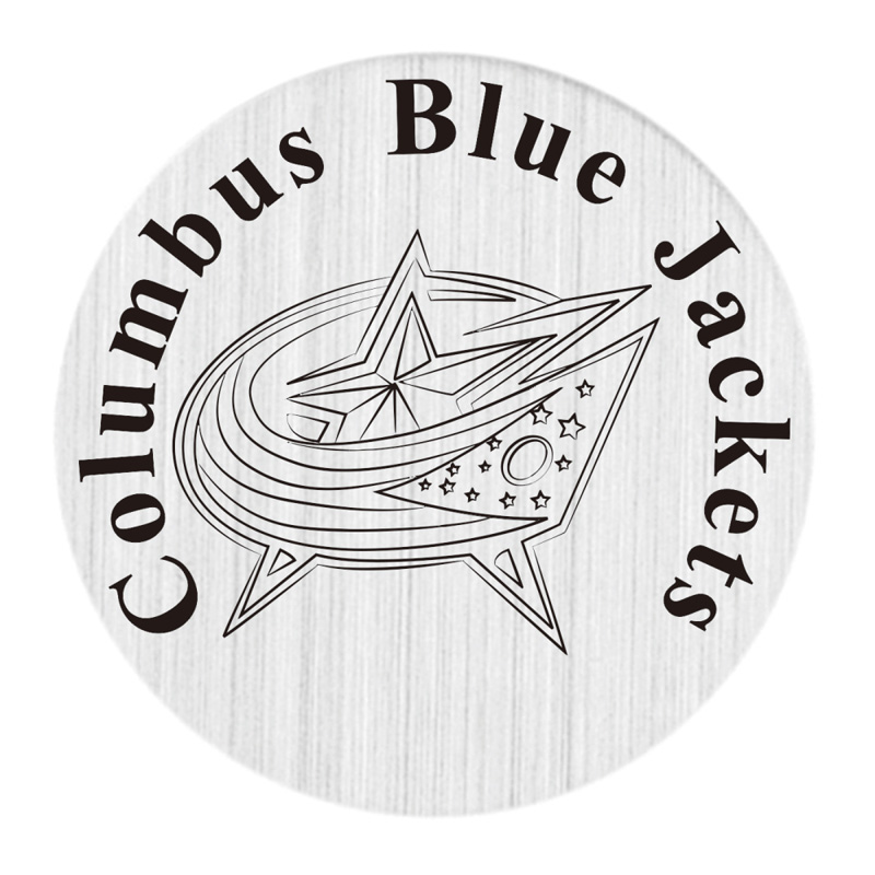 Columbus Blue Jackets 22mm Stainless Steel Floating Locket Plate NHL Floating Charms Fit ...