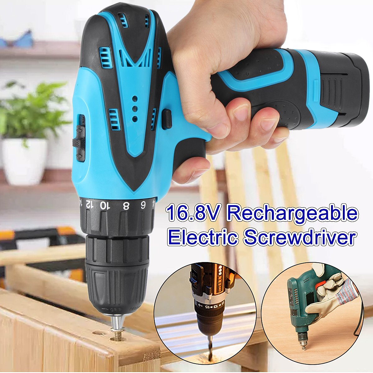 Reversible rechargeable lithium battery cordless electric screwdriver hand Percussion electric charging drill bit power too 2016 45 pcs rechargeable cordless reversible electric screwdriver 4 8v kit set hot handheld electric screwdriver