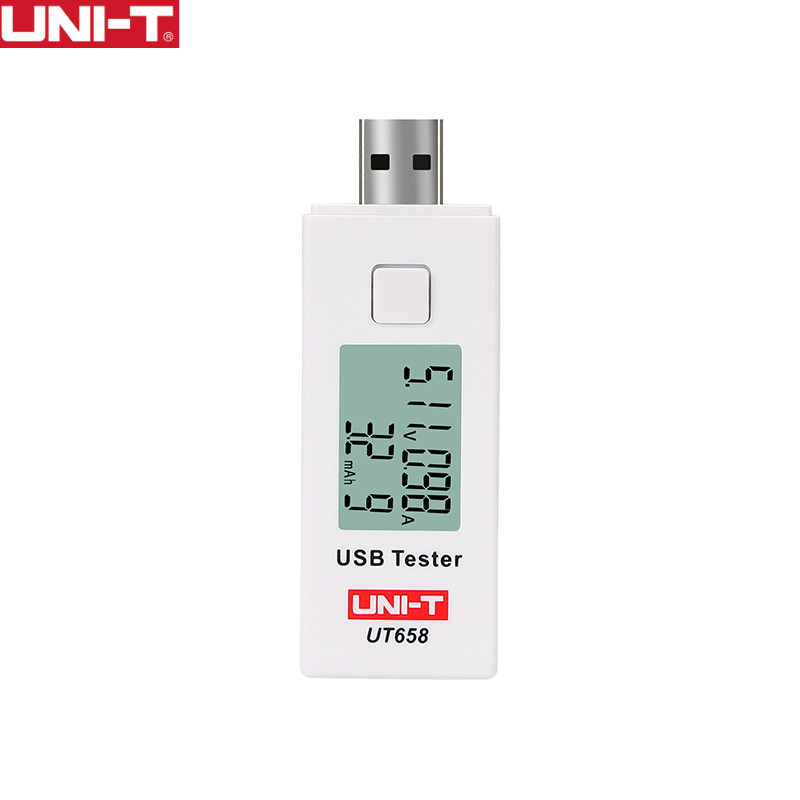 UNI-T UT658 USB Digital Current Voltage Testers U Disk Doctor Chargers Voltmeter Ameter Capacity MAX 9V Data Storage Backlight