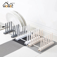 Plate Drainer Rack Plastic Pot Lid Cover Holder Storage Shelf Cooking Dish Rack Pan Cover Stand Kitchen Organizer Pot Lid Rack(China)