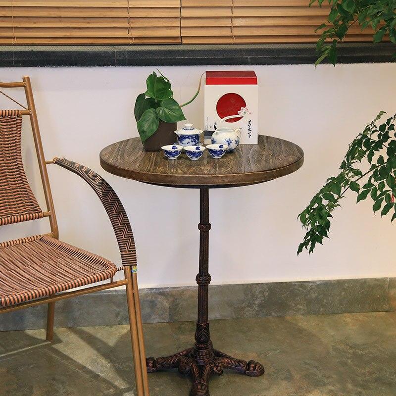 американский чердак ретро столы железа круглый лес журнальный столик