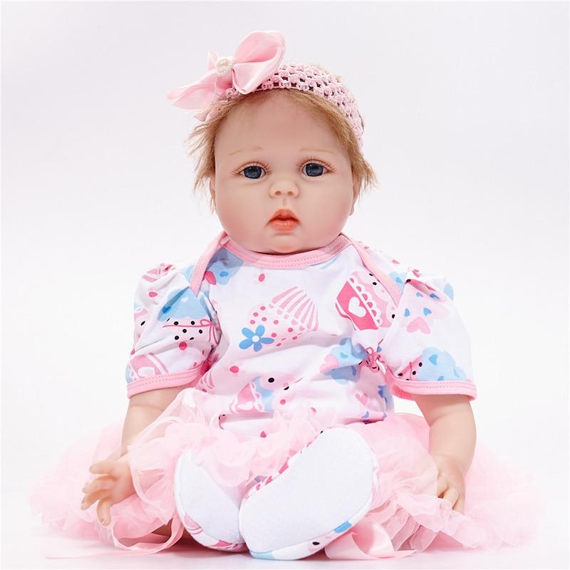 все цены на Lifelike Newborn Baby Dolls 55cm Handmade Silicone Reborn Bebe Menina Adora Dolls Kids' Toys Soft Playmate SB5582 Baby Dolls Toy онлайн