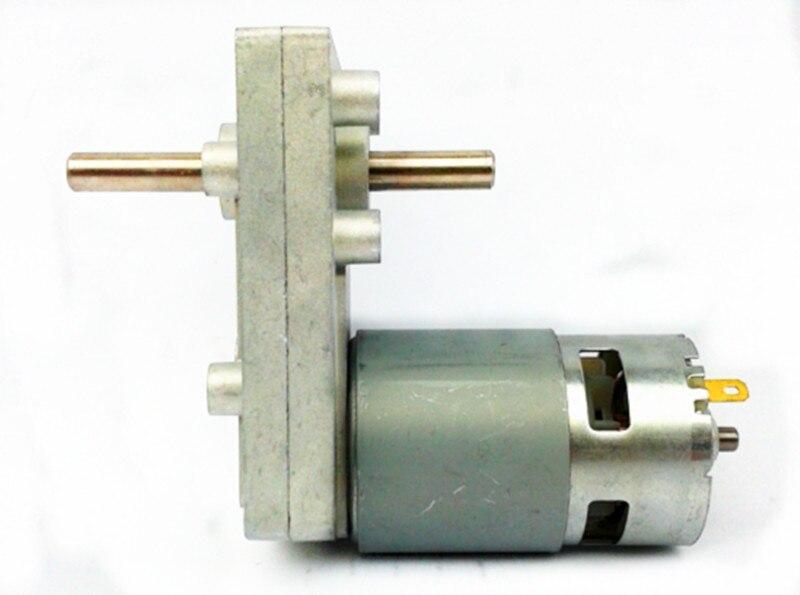 New 775 double shaft DC deceleration motor / big torque output, multi speed 6v12v24v motor цена