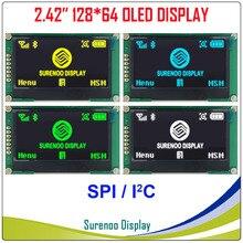 """الحقيقي OLED عرض ، 2.42 """"128*64 12864 SPI I2C/IIC الجرافيك وحدة LCD شاشة LCM شاشة SSD1309 تحكم"""