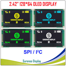 """Real Oled display, 2.42 """"128*64 12864 SPI I2C/IIC Grafische LCD Module Screen LCM Screen SSD1309 Controller"""