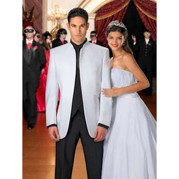New Arrival Hot Recommend White terno masculino Men Wedding Suits Best selling Groom mens suit Tuxedos With Black Pant
