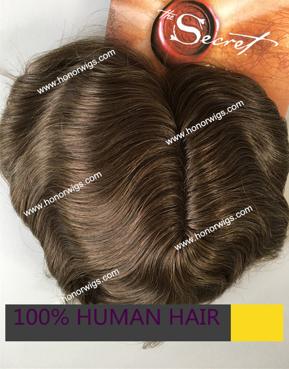 men's toupee ash brown color men's color