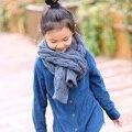 Estilo coreano de invierno de alta calidad de aislamiento térmico de lana de tejer de los niños bufanda de punto bufanda