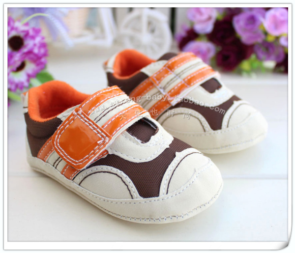 Cotton-made shoes khaki spring and autumn single shoes baby 0-1 year old