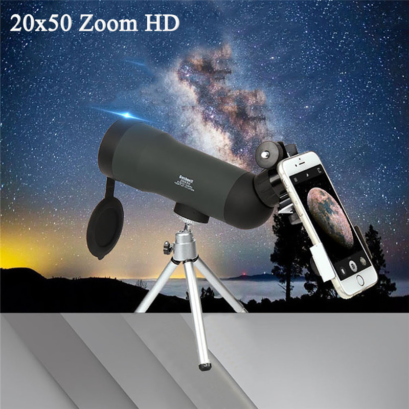 <font><b>20x50</b></font> HD Zoom Outdoor <font><b>Monocular</b></font> Telescope Night Version Spotting Scope With Portable Tripod image