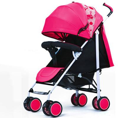 Alta Qualidade Carrinho de Bebê Portátil Pode Sentar Mentindo Altos Verdes Carrinhos para Recém-nascidos Folding Frame Dourado À Prova de Choque de Carro Do Bebê C01