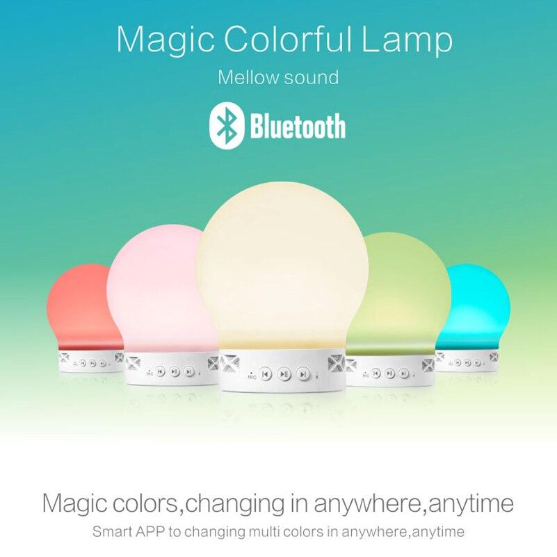 10 pcs/lot haut-parleur bluetooth sans fil intelligent 3 W musique Audio RGB LED qui change de couleur ampoule APP télécommande lampe magique intelligente