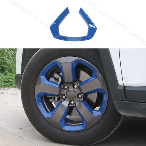 Blue 20pcs Fit For Jeep Compass 2017 Auto Wheel Round Decorator Frame Cover Trim