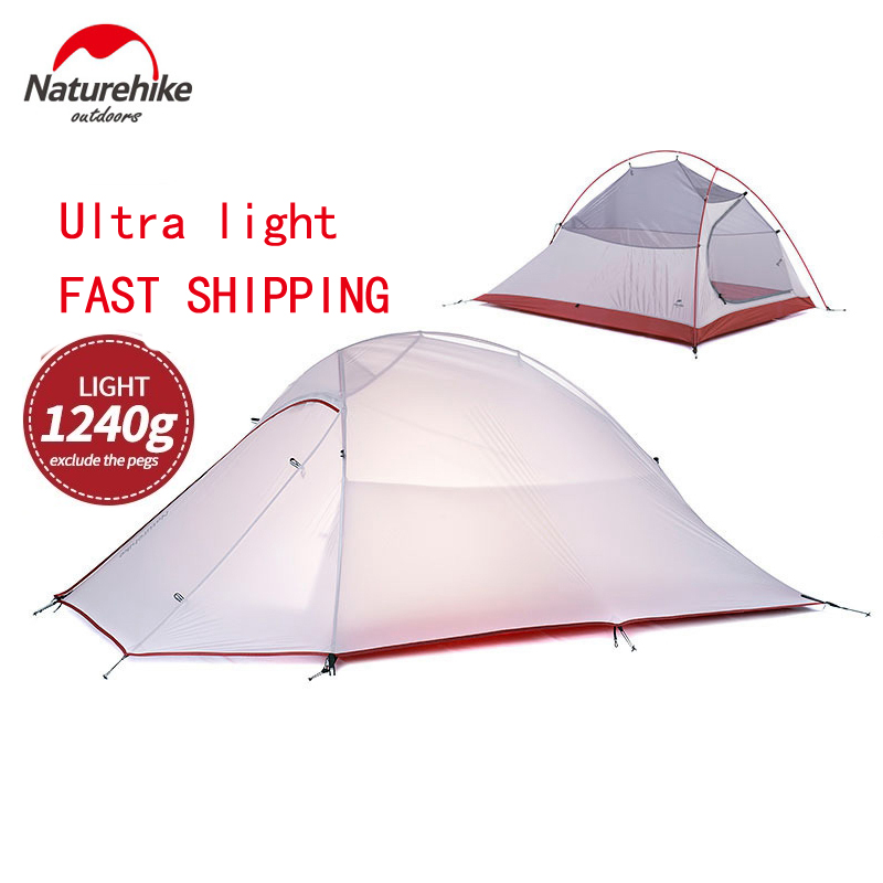 2017 DHL free shipping NatureHike 2 Person Tent ultralight 20D Silicone Fabric Tents Double-layer Camping Tent Outdoor Tent naturehike 2 person tent ultralight 20d silicone fabric tents double layer aluminum rod camping tent outdoor tent 4 season