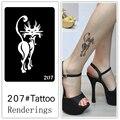 Desechables tatuaje plantilla, desmontable, la creación artística, de moda, de la piel disponibles, tatuajes, totem, animal, exquisito, fox, 207