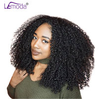 LeModa Malaysian Kinky Curly Human Hair Wigs For Black Women 200% Density Lace Front Wigs Pre Plucked With Baby Hair Remy