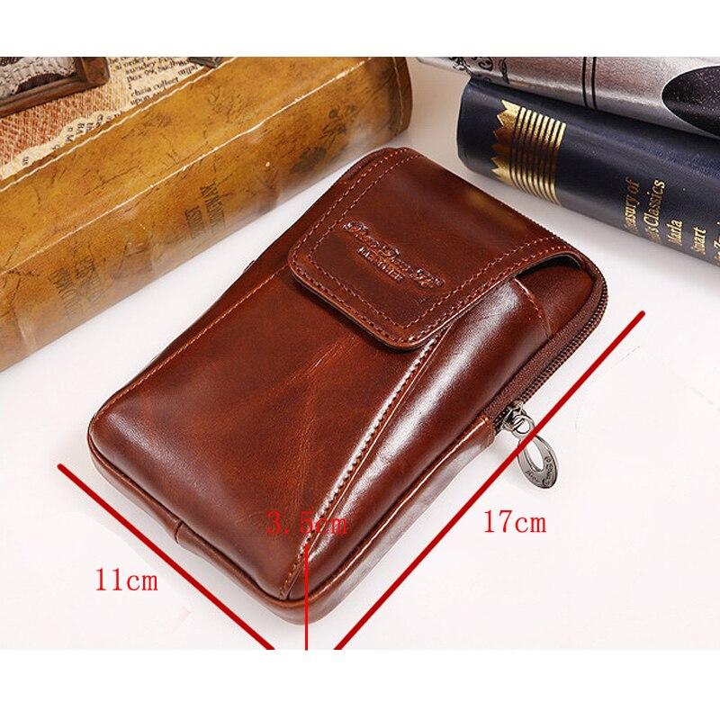Högkvalitativ äkta läder vintage män hip bum bälte handväska - Bälten väskor - Foto 4