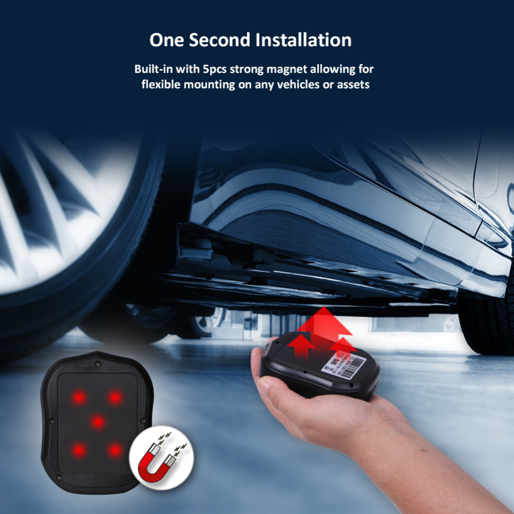 GPS Tracker 5000mAh 90 Days Standby 2G Vehicle Tracker GPS Locator  Waterproof Magnet Voice Monitor Free Mobile Apps