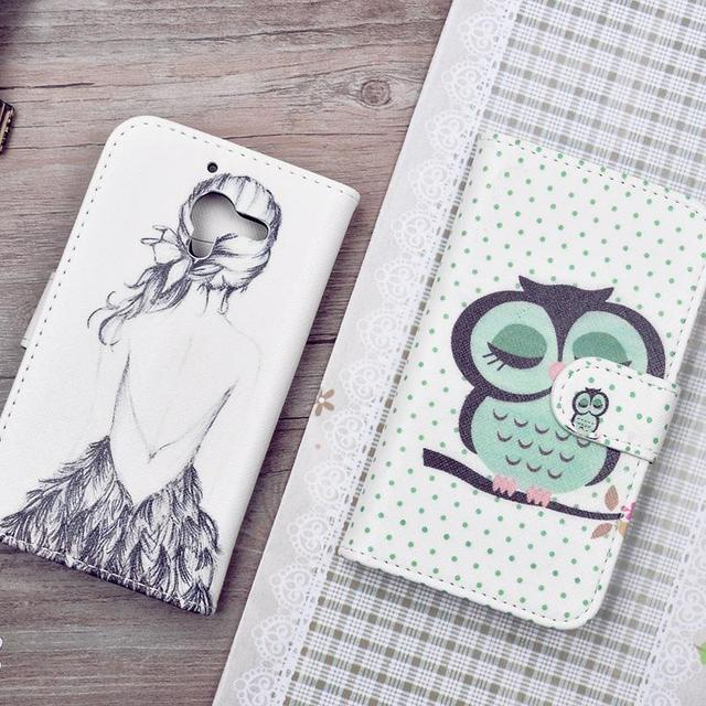 Printing Pattern PU Leather Case For Sony Xperia ZL L35H C6503 C6502 C6506 Cover Wallet Phone Cases with Stand and Card Holder