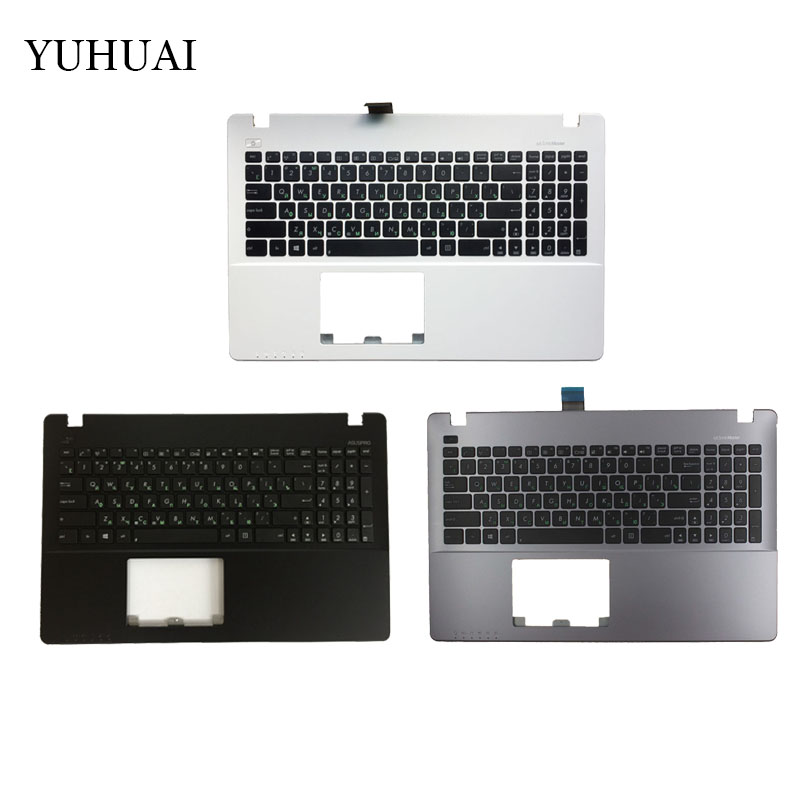 New Russian Laptop Keyboard for ASUS X550 K550V X550C X550VC X550J X550V A550L Y581C F550 R510L RU Palmrest Upper Cover new br laptop keyboard for asus x550 k550v x550c x550vc a550l y581c f550 r510l x550j x550v brazil shell palmrest cover