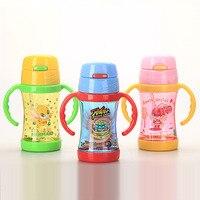 Keelorn Children S Straw Water Bottle Leak Proof Baby Water Bottles Boy And Girl Summer Strap