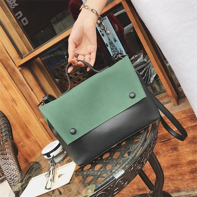 Hot Sales 2018 Women Composite Bags Messenger Bags Flap Bag Lady Soft Leather Handbag Crossbody Small Female Fashion Handbags