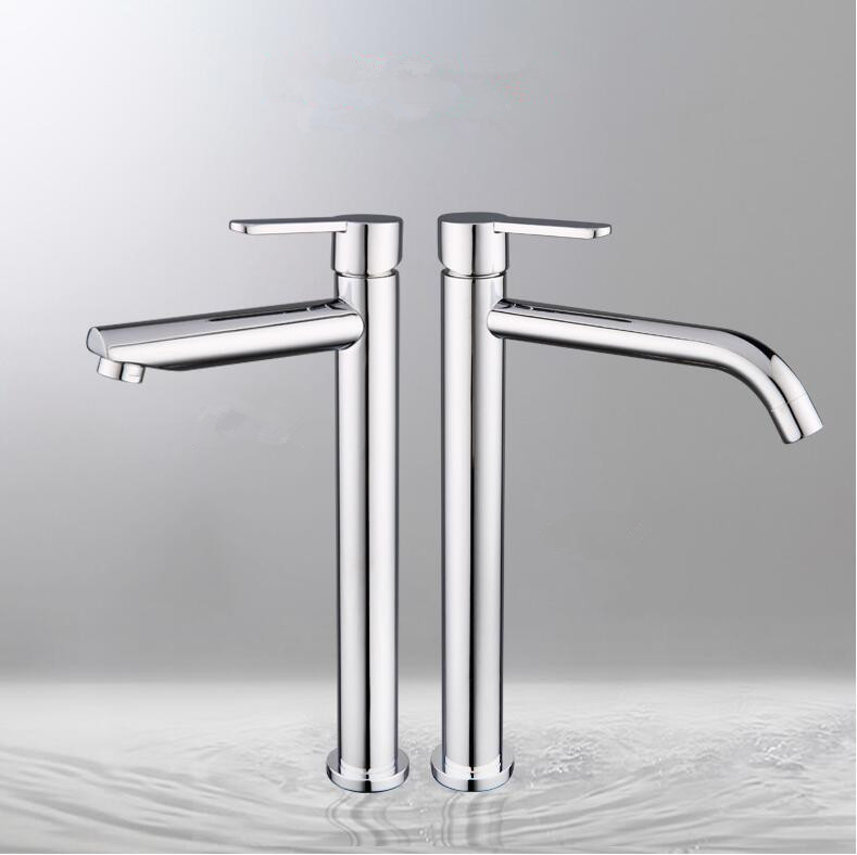 Supper high quality Tall sink faucet bathroom slim hot and cold basin water mixer tap bathroom single sink faucet free shipping hpb square style tall basin faucet water tap chrome finished bathroom sink mixer single handle hot and cold hp3132