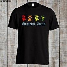 55c7e3786 Grateful Dead Psychedelic Rock Woodstock Music Funny Dancing Bears T Shirt  Top Tee Cotton Humor Men Crewneck Tee Shirts sbz1365