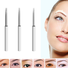 #3/4/5 Pin Needles Permanent Makeup Eyebrow Blade For 3D Embroidery Manual Tattoo Pen Machine Cosmetic Eyebrows Random Color
