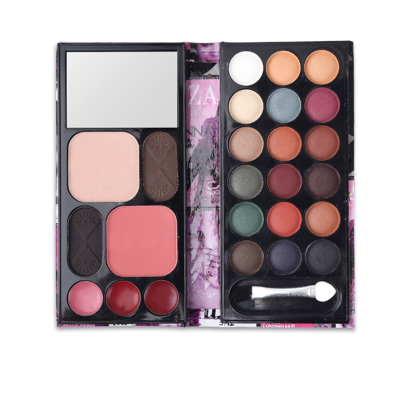 Eye Makeup Set 18 Color Eyeshadow Palette + Blusher + 3 Color Lipstick + Eyebrow Powder + Concealer + Bronzer Contour Shadow Kit professional make up 144 color eye shadow 3 color blush 3 color eyebrow powder makeup set box