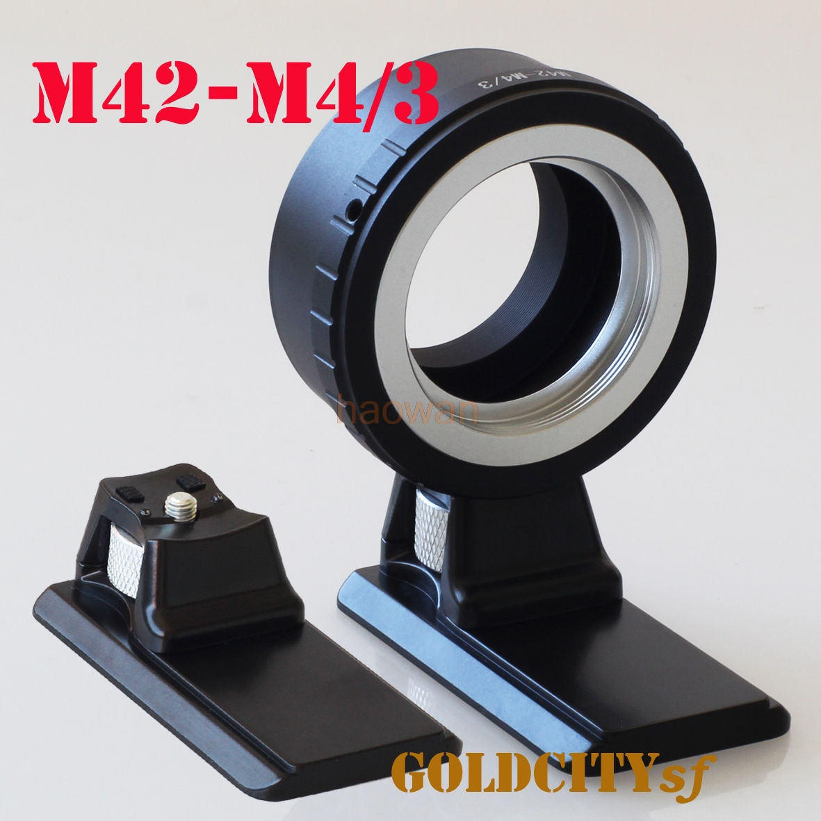 M42 42mm Lens to Micro M 4/3 M43 Adapter ring with tripod stand for G6 G7 GH1 GF1 GF3 E-P1 gf5 E-P1 EPL5 EM5 EM1 EM10 camera