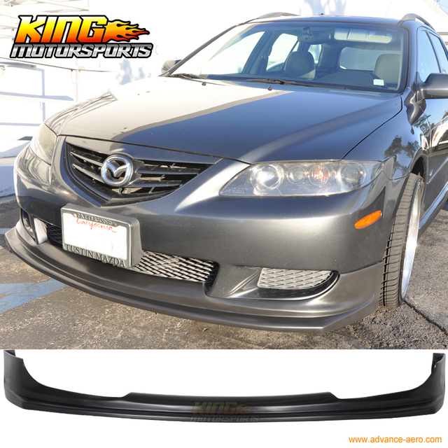 Fit For 2003 2004 2005 Mazda 6 Front Bumper Lip Spoiler Poly Urethane-in Bumpers From