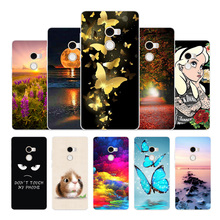Silicone Cases For Xiaomi MIX 2 Mix2 Black TPU Soft Phone Cover XIAOMI MI Mix Cute Coque Animal pattern painted shell