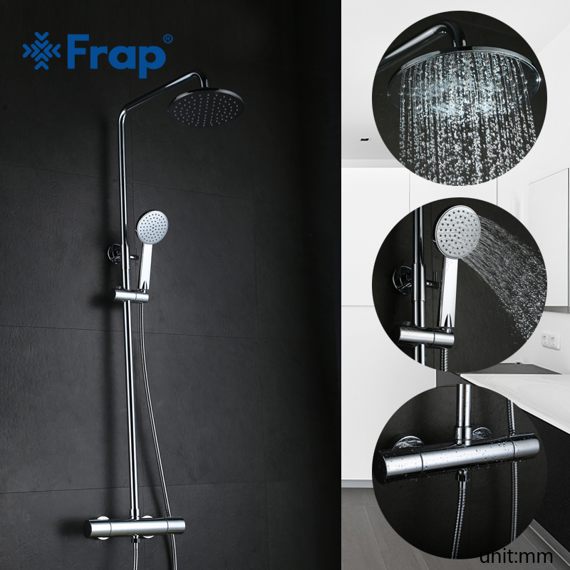FRAP new Thermostatic shower Faucets mixer tap wall mounted bath room shower faucets taps Sanitary Ware