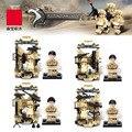 Falcon de las fuerzas especiales del ejército militar Comando minifigrures hangar del arsenal de armas building block Compatible legoeinglys. juguetes