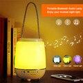 Mesa de luz Da Noite Da Lâmpada portátil de Música Sem Fio + Bluetooth Speaker & Music Player com Sensor de Toque Lâmpada de Cabeceira Luz RGB