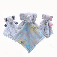 Baby Pacifier Appease Soothe Towel Cute Cartoon Elephant Soft Plush Nursing Stuffed Doll Infant Teether Sleeping Partner