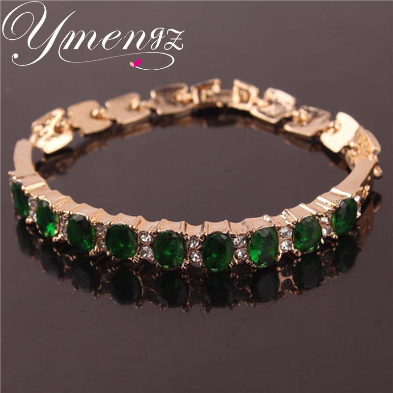 Popular Bangle Bracelets: YMENGZ Most Popular Products Five Color Round Crystal