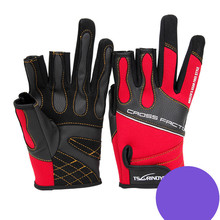 Prevent slippery wear resisting red sauce with three outdoor fishing font b gloves b font cycling