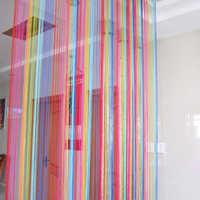 95cm * 200cm cortinas vintage arco iris con 6 colores cortinas decoradas en el hogar dormitorio cortinas para sala de estar gordijnen