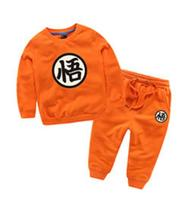 Dragon Ball Z Son Goku Cosplay Costume Cotton Cosplay Kids Children Baby boys girls Trouser coat long sleeve tshirt suit