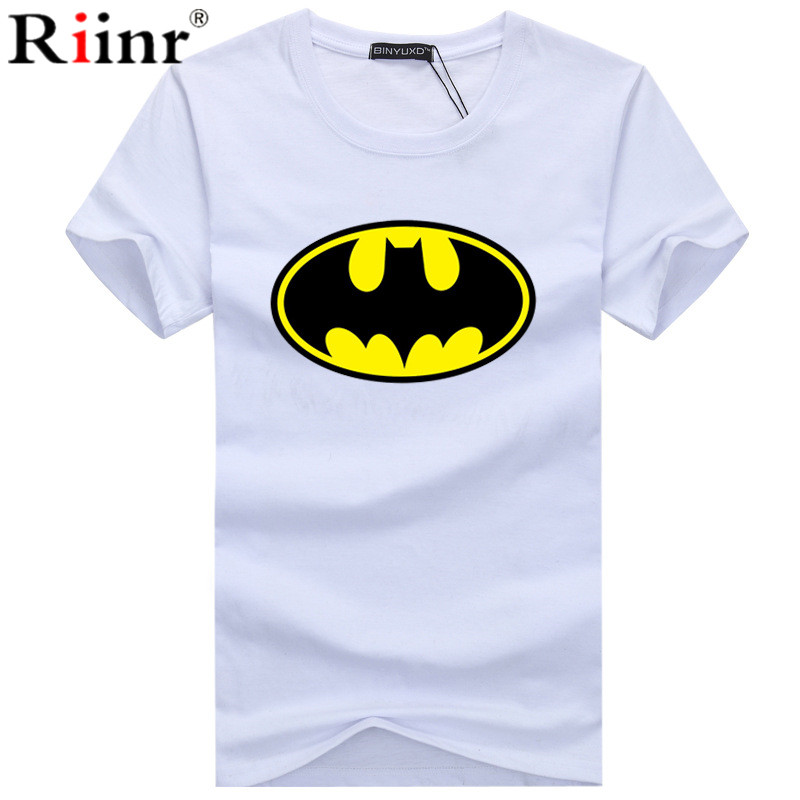 New Summer Fashion BATMAN Brand Large Size Men's Dress Color Sleeves Slim T Shirt Men's T-shirt Casual T-shirt S-5XL