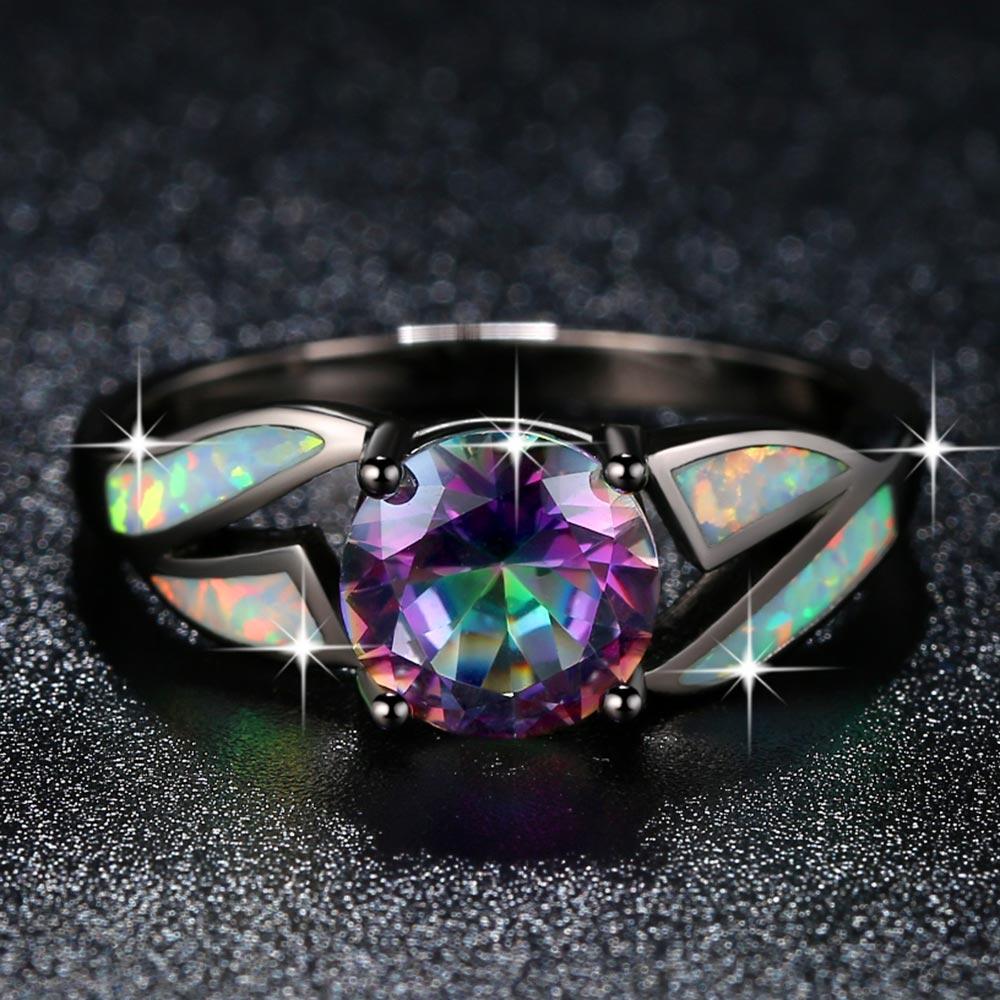 Bleu//Blanc//Vert//Orange//Rose oval 925 Sterling Sliver Fire Opal Bracelet 18 cm