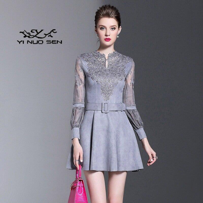 Yinuosen 2017 Otoño Nuevos Modelos De Ropa De Mujer De Moda