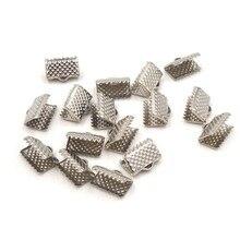 13 мм тональные металлические ювелирные изделия, ленточный шнур, застежки, Обжимные бусины, оптовая продажа RX1022